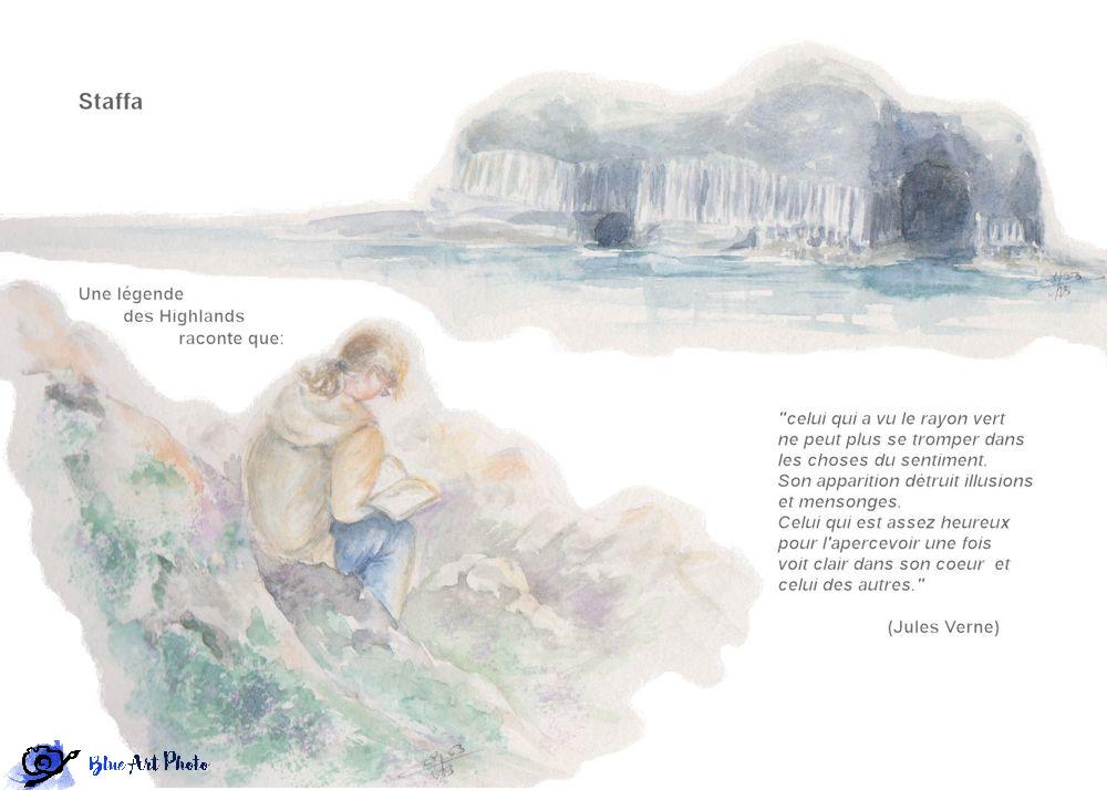 """Staffa et lecture """"Le rayon vert"""" de J. Verne"""