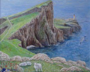 Neist point lighthouse - peinture