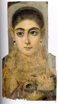 """Portrait de Fayoum dite """"l'Européenne"""" Musée du Louvre"""