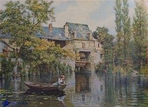 Reproduction Jeune fille normande pêchant d'Aston Knight