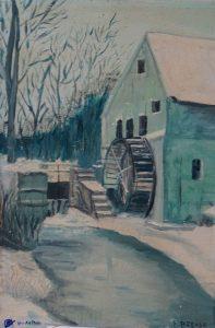 Moulin- peinture d'enfance