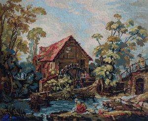 Tapisserie- le Moulin d'après François Boucher