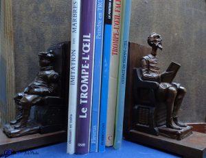 Serre-livres-Don Quichotte et Sancho Panza