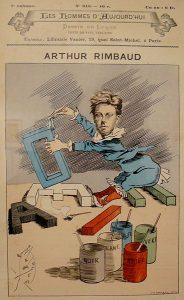 Rimbaud-Voyelles-caricature de Manuel Luque-source wikimédia