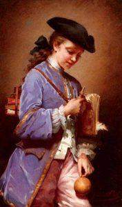 Jeanne Bôle - L'enfant au bilboquet - source Wikimédia