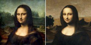 """Les deux """"Joconde"""" -Louvre, Isleworth- source Le Monde"""