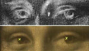Pascal Cotte - Relevé de croix avec caméra multispectrale - source Arte