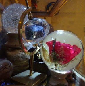 Boules en verre avec inclusion