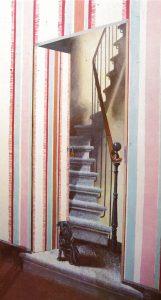 Le chien des maitres de maison (A Casana) - source livre La tropme-l'oeil sur les murs, les meubles et les objets - ed. De Vecchi