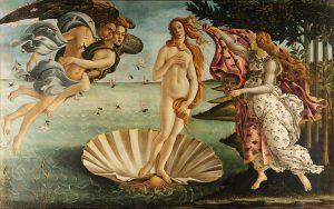 La naissance de Vénus - S. Botticelli - Galerie des Offices - Florence - Source Wikipédia