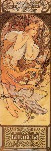 Mucha - les saisons - printemps - 1897 - source livre collection Ivan Lendl
