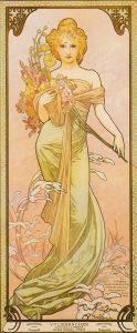 Mucha - les saisons - printemps - 1900 - source livre collection Ivan Lendl