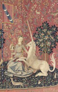 La Dame à la Licorne - la vue détail - source musée du moyen-âge - Cluny