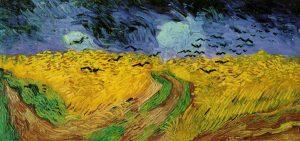 Van Gogh - Champ de blé aux corbeaux - Source grands peintres.com