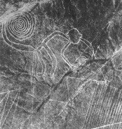 Dessin Nazca singe - Source Wikipédia - Markus Leupold-Löwenthal