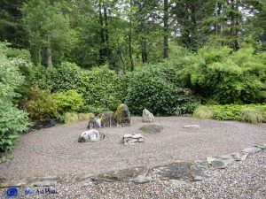 "Coin ""Zen"" dans un jardin d'Ecosse"