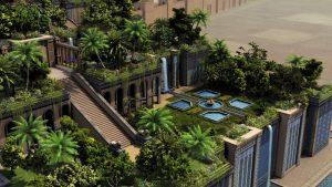 Les jardins suspendus de Babylone - source http://amytis-ljs.com/