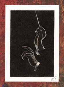 Tableau de sable - Chef d'orchestre