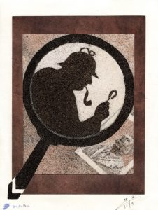 Tableau de sable - Sherlock Holmes