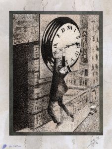 Tableau de sable - Buster Keaton