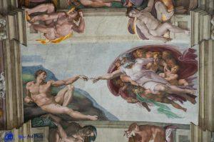 Michel-Ange - Rome - Chapelle Sixtine - La création d'Adam