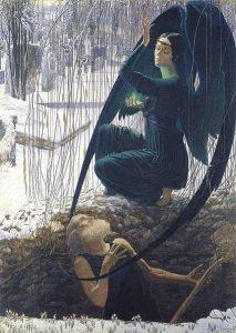 La mort et le fossoyeur - Carlos Schwabe - Musée du Louvre - Source wikimédia