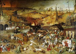 Pieter Bruegel l'Ancien - Le triomphe de la mort - Source Pinterest