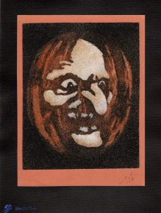 Tableau de sable - Halloween