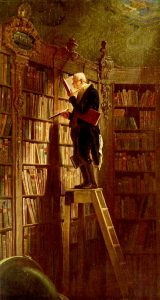 Le Rat de Bibliothèque - Carl Spitzweg - Source pinterest