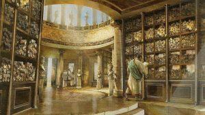 Reconstitution Bibliothèque Alexandrie - Source Pinterest