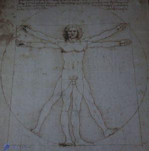Homme vitruvien - Lénoard de Vinci - Tapis