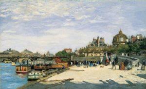 Le pont des Arts - Auguste Renoir (1867) - Source http://paris1900.lartnouveau.com/ponts