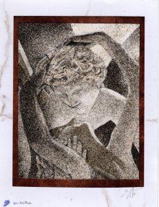 Tableau de sable - Antonio Canova - Psychee ranimée par le baiser de l'amour