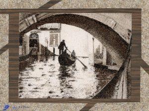Tableau de sable - Venise