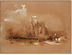 David Roberts - Melrose Abbey - Ecosse