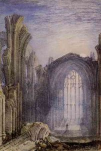 L'abbaye de Melrose - Turner - Source wikipedia