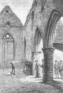 Rayon vert - Jules Verne - Ruines du monastère - Nécropole de Iona de rois écossais