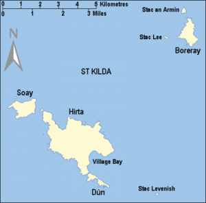 Saint kilda - carte