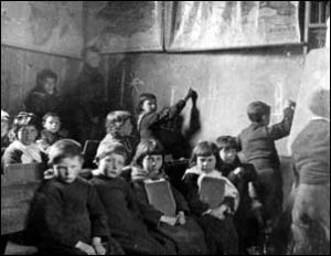 The children in the school. St Kilda