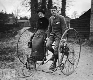 Photo an cienne - Source Pinterest - Tandem 1890