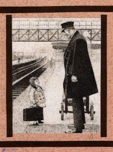 Tableau de sable - D'après une photo ancienne - Bristol, england, 1936. photo by george w. hales. - Source Pinterest