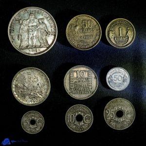 Pièces de monnaie - Liberté, Egalité, Fraternité