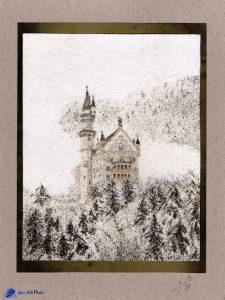 Tableau de sable - Neuschwanstein