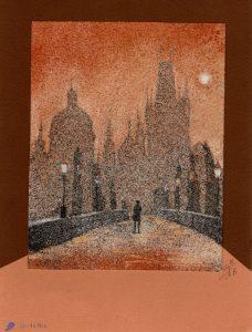 Tableau de sable - Prague