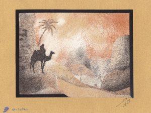 Tableau de sable - Désert