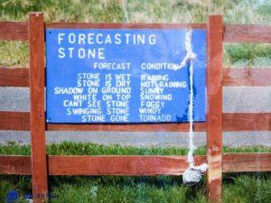 Forecasting stone - Ecosse
