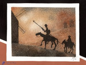 Tableau de sable - Don Quichotte